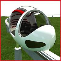 passenger monorail 3d max