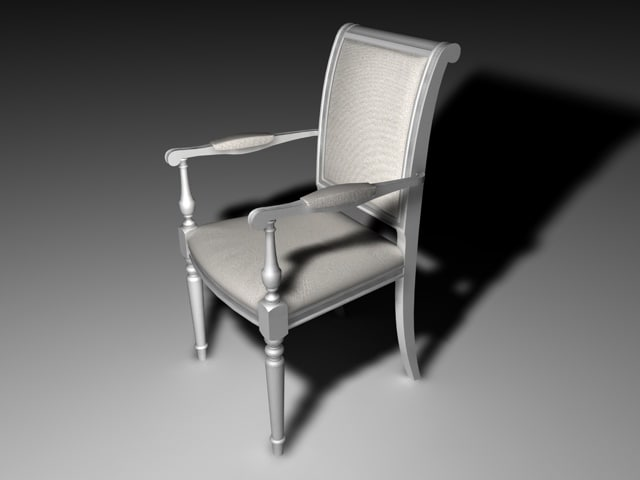 antique chair italian 3ds