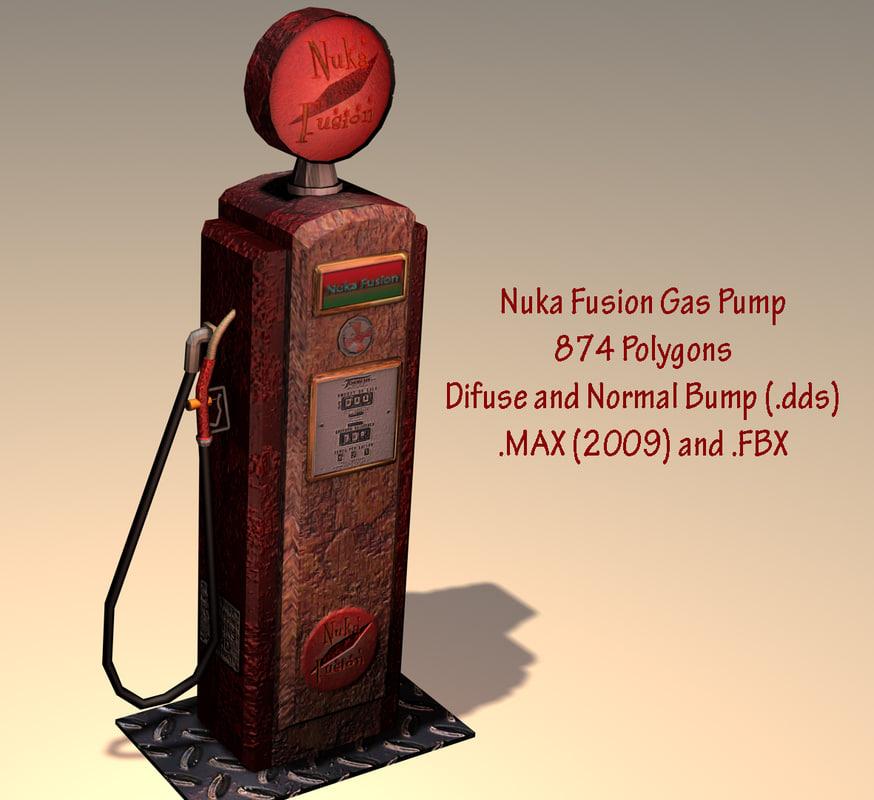 3d model nuka gas pump