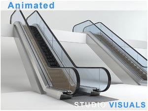 3d escalator model