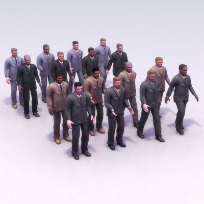 men suit 3d model
