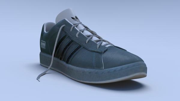 obj blue sports shoe trainer