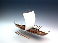 viking war ship 3d lwo