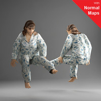 3d model metropoly characters human