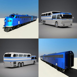 emd f7 scenicruiser 3d model