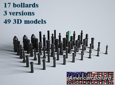 ultimate bollards 3d model