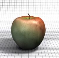 apple gala 3d blend