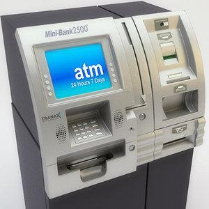 atm kiosk machine check 3d model