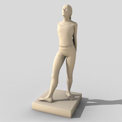 3ds max ballerina statue