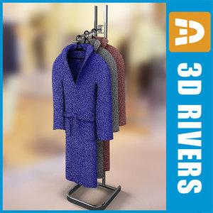 3d retail clothing rack bathrobes model