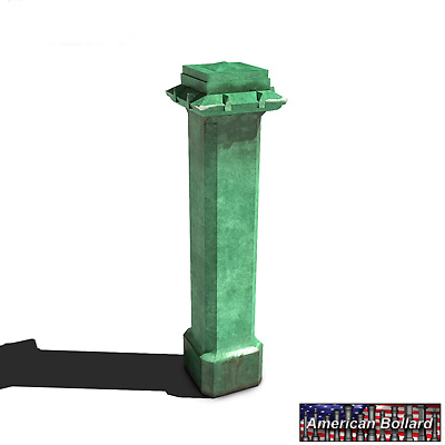 low-poly bollard canal plaza 3ds free
