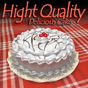 3d delicious cake model