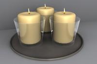 candle votive 3d obj