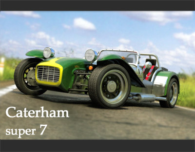 caterham super seven car 3d model