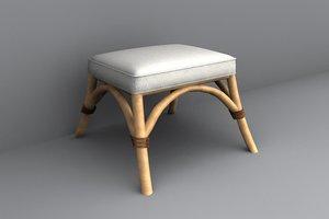 stool 3d lwo
