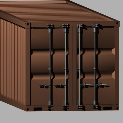 3d shipping freight container model