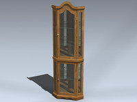 3d model curio cabinet