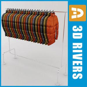 rack clothes jacket 3d model