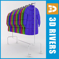 retail clothing rack 3d model