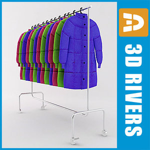 retail clothing rack 3d model