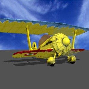 3d sgt pepper biplane model