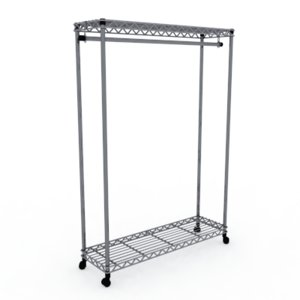 wire garment rack 3d max