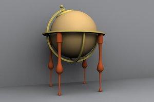 globe 3d lwo