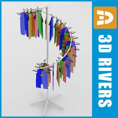 3d retail clothing rack 02