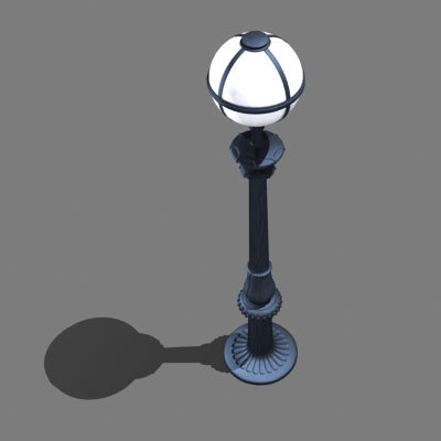 street lamp light 3d max