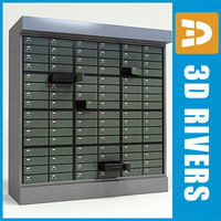 3ds max bank locker