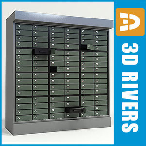 3ds max bank locker