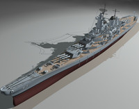 battleship missouri ship 3d model