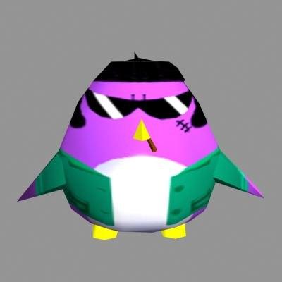 cute penguin 3ds