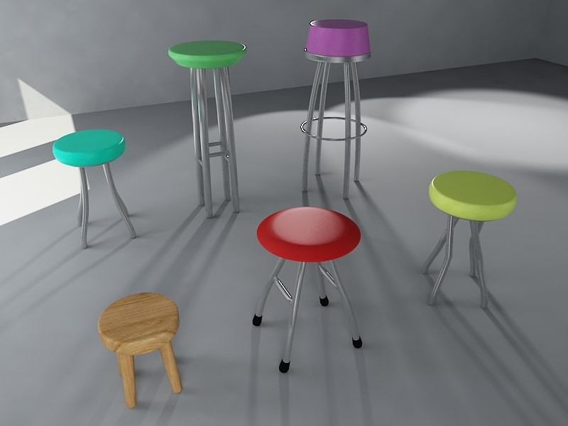3ds max bar stools pack 13