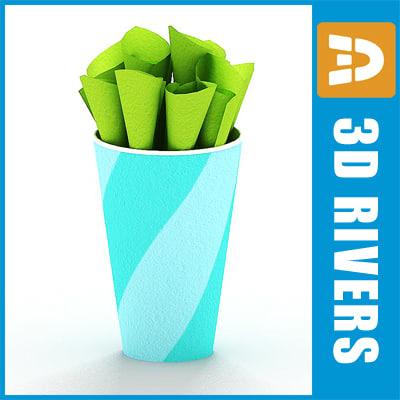 free paper cup 3d model