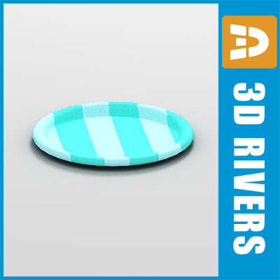 free 3ds model paper plate