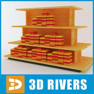 3d model table polo clothes