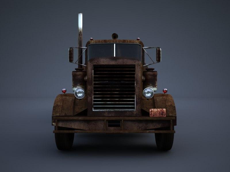 3d model rusty tanker truck