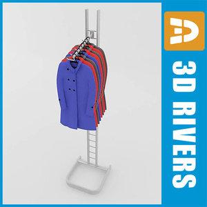 maya retail clothing rack raincoat