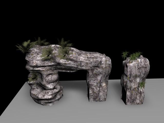 3d c4d rock