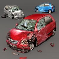 car scrap 3d max