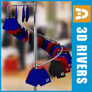 retail clothing rack shorts max