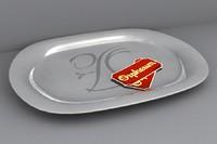 silver platter 3d lwo