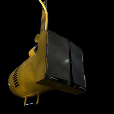 3d stage light 01 model