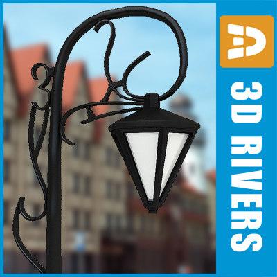 3d model street light streetlights
