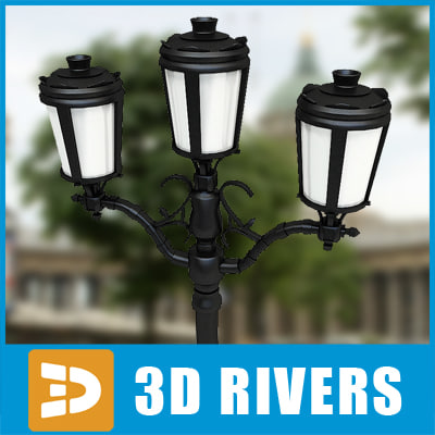 street light streetlights 3d max
