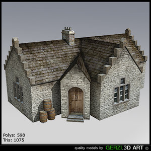 free scotish house 3d model
