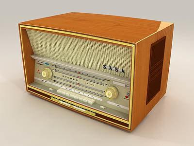 old radio 3d max
