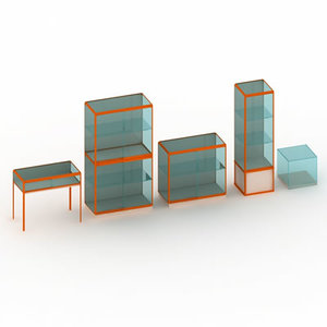 display shelving cabinet 3d ma