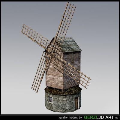 free windmill video games 3d model